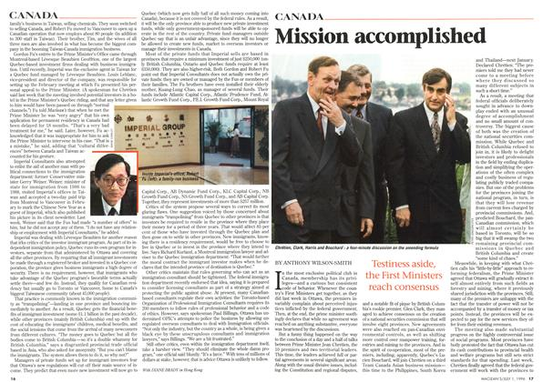 Article Preview: Mission accomplished, July 1996 | Maclean's