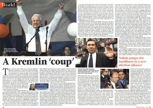 Article Preview: A Kremlin 'coup', July 1996 | Maclean's