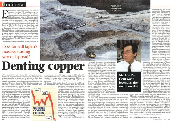 Article Preview: Denting copper, July 1996 | Maclean's