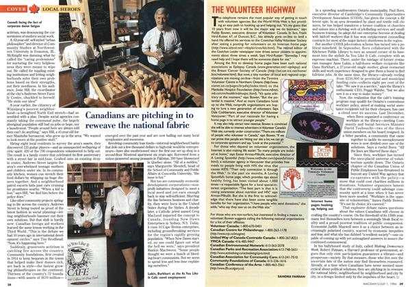 Article Preview: THE VOLUNTEER HIGHWAY, July 1996 | Maclean's