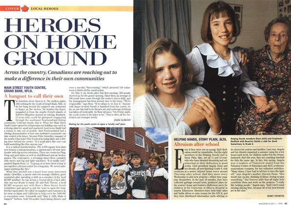Article Preview: HEROES ON HOME GROUND, July 1996 | Maclean's