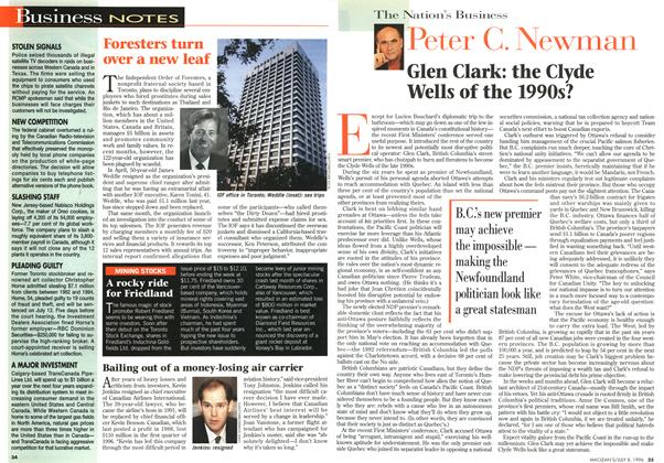 Article Preview: Glen Clark: the Clyde Wells of the 1990s?, July 1996 | Maclean's