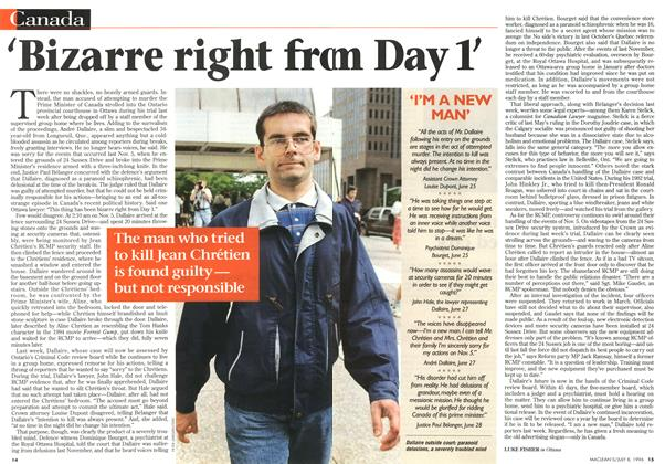Article Preview: 'Bizarre right fro m Day 1', July 1996 | Maclean's