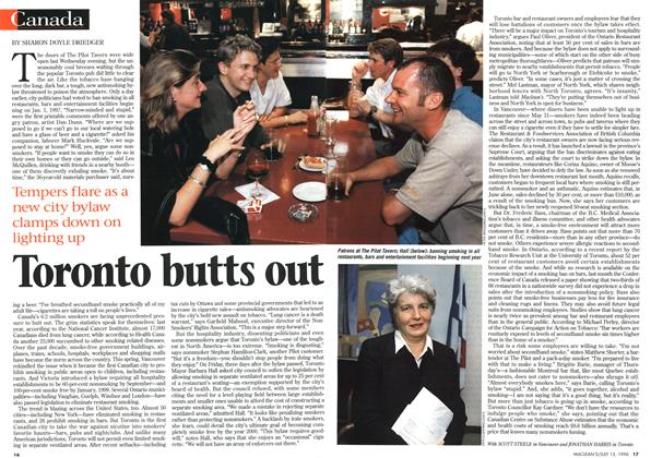 Article Preview: Toronto butts out, July 1996 | Maclean's