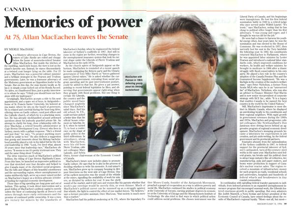 Article Preview: Memories of power, July 1996 | Maclean's