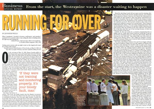 Article Preview: RUNNING FOR OVER, July 1996 | Maclean's