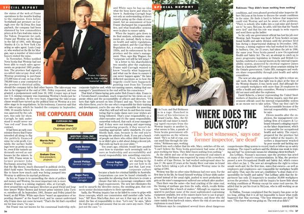 Article Preview: WHERE DOES THE BUCK STOP?, July 1996 | Maclean's