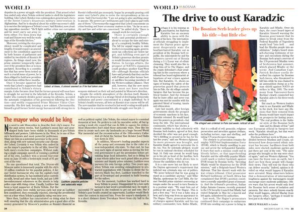 Article Preview: The drive to oust Karadzic, July 1996 | Maclean's