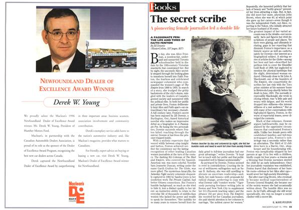 Article Preview: The secret scribe, July 1996 | Maclean's