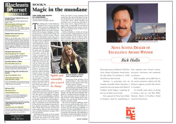 Article Preview: Magic in the mundane, July 1996 | Maclean's