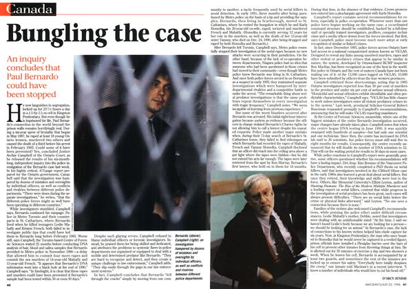 Article Preview: Bungling the case, July 1996 | Maclean's