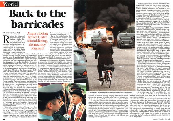 Article Preview: Back to the barricades, July 1996 | Maclean's