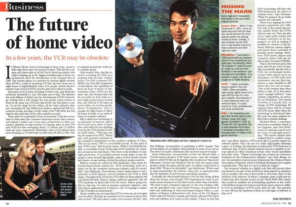 Article Preview: The future of home video, July 1996 | Maclean's