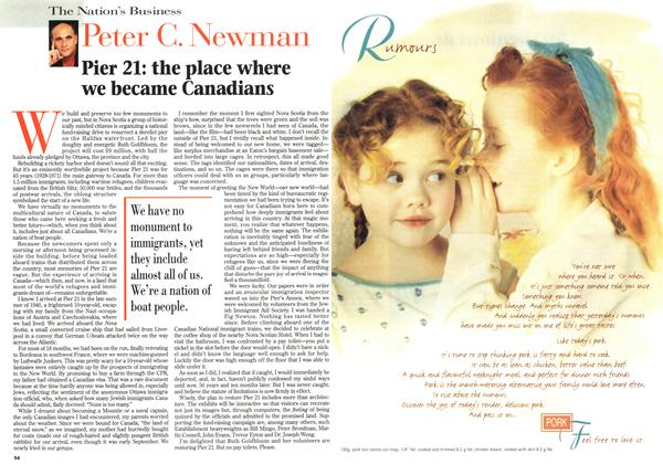 Article Preview: Pier 21: the place where we became Canadians, July 1996 | Maclean's