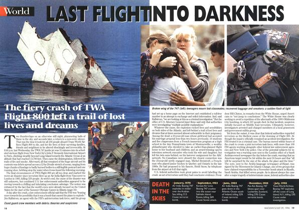 Article Preview: LAST FLIGHT INTO DARKNESS, July 1996 | Maclean's
