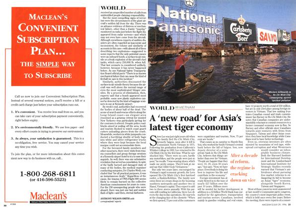 Article Preview: A 'new road' for Asia's latest tiger economy, July 1996 | Maclean's