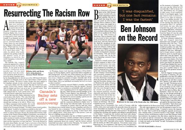 Article Preview: Ben Johnson on the Record, July 1996 | Maclean's