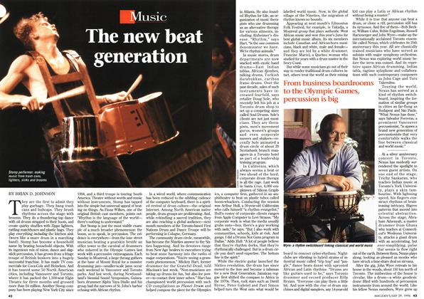 Article Preview: The new beat generation, July 1996 | Maclean's