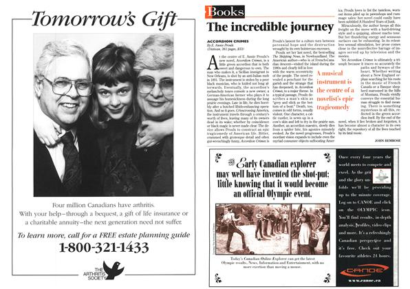 Article Preview: The incredible journey, July 1996 | Maclean's