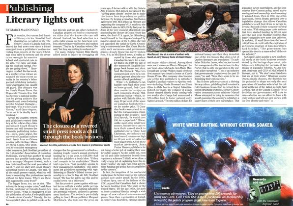 Article Preview: Literary lights out, July 1996 | Maclean's