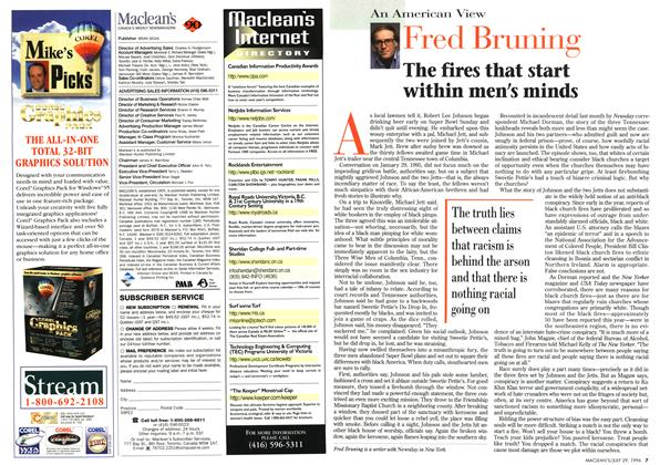 Article Preview: Fred Bruning, July 1996 | Maclean's