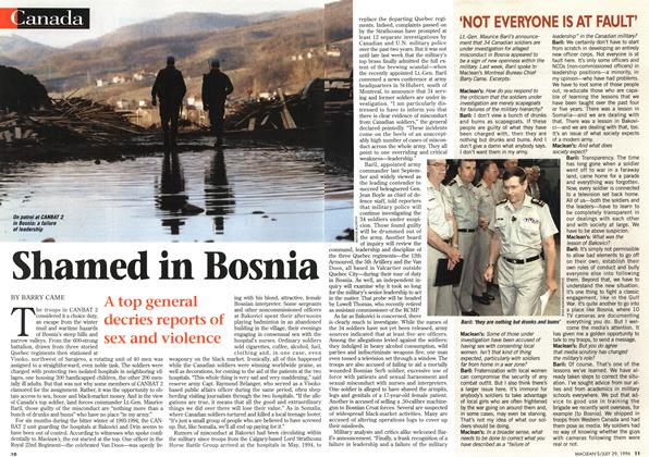 Article Preview: Shamed in Bosnia, July 1996 | Maclean's
