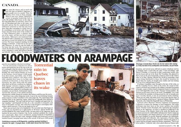 Article Preview: FLOODWATERS ON A RAMPAGE, August 1996 | Maclean's