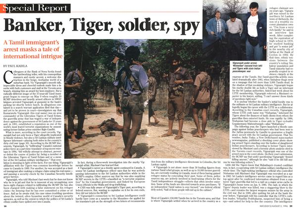 Article Preview: Banker, Tiger, sold ier; spy, August 1996 | Maclean's