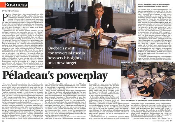 Article Preview: Péladeau's power Play, August 1996 | Maclean's