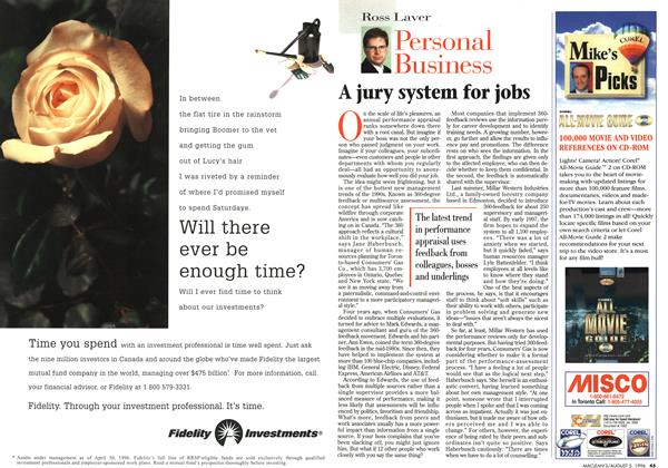 Article Preview: A jury system for jobs, August 1996 | Maclean's