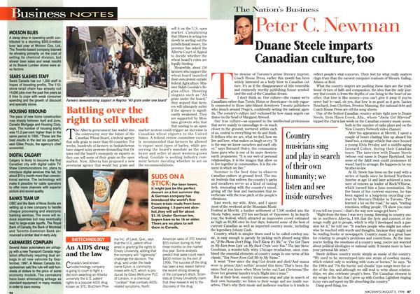Article Preview: Duane Steele imparts Canadian culture, too, August 1996 | Maclean's
