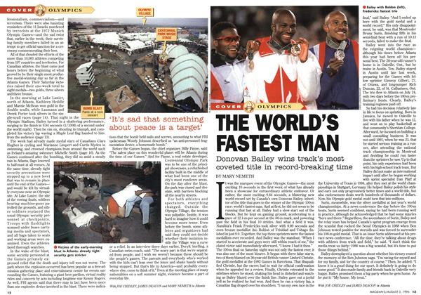 Article Preview: THE WORLD'S FASTEST MAN, August 1996 | Maclean's