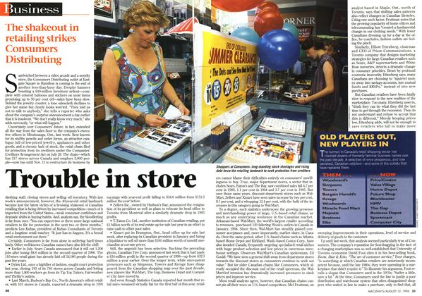 Article Preview: Trouble in store, August 1996 | Maclean's