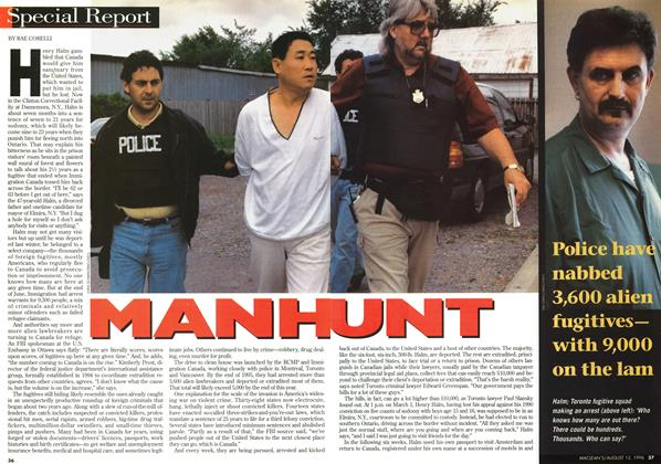 Article Preview: MANHUNT, August 1996 | Maclean's