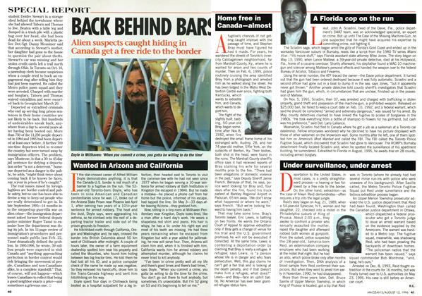 Article Preview: BACK BEHIND BARS, August 1996 | Maclean's