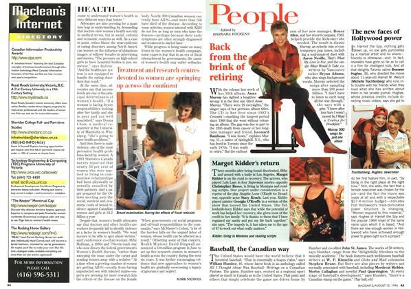 Article Preview: People, August 1996 | Maclean's