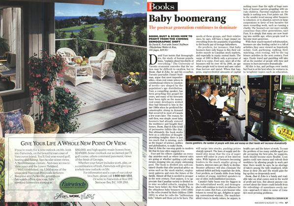 Article Preview: Baby boomerang, August 1996 | Maclean's