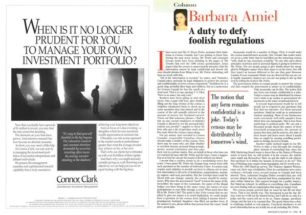 Article Preview: Barbara Amiel, August 1996 | Maclean's