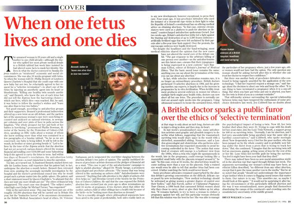 Article Preview: When one fetus lives and one dies, August 1996 | Maclean's