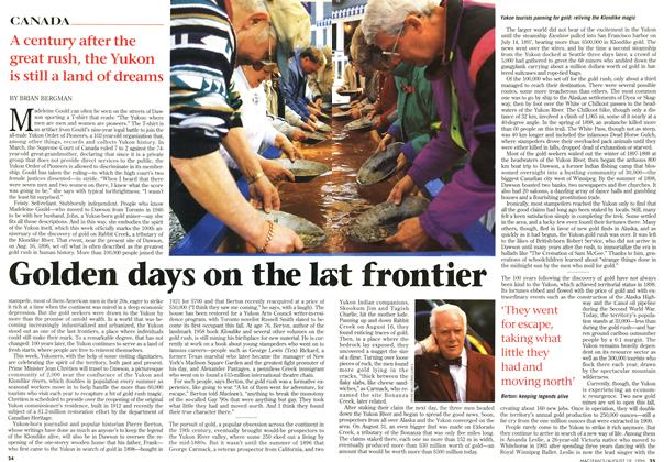 Article Preview: Golden days on the last frontier, August 1996 | Maclean's