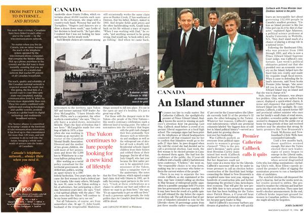 Article Preview: An Island stunner, August 1996 | Maclean's