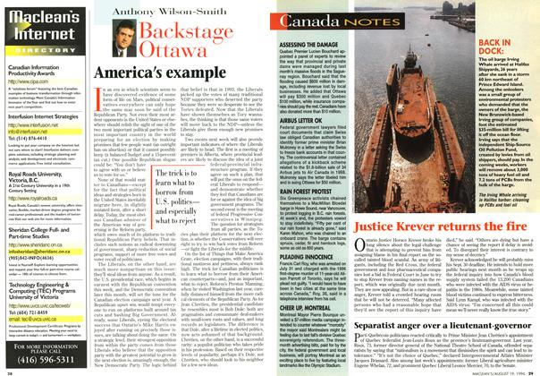 Article Preview: America's example, August 1996 | Maclean's