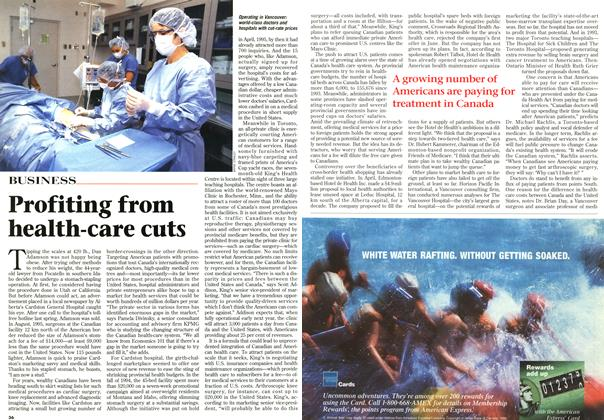 Article Preview: Profiting from health-care cuts, August 1996 | Maclean's