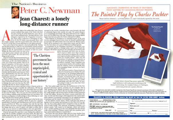 Article Preview: Jean Charest: a lonely long-distance runner, August 1996 | Maclean's
