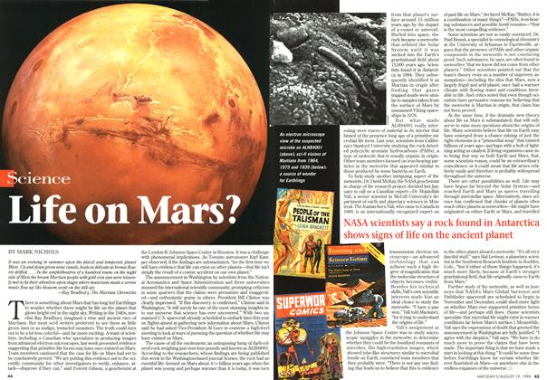 Article Preview: Life on Mars?, August 1996 | Maclean's