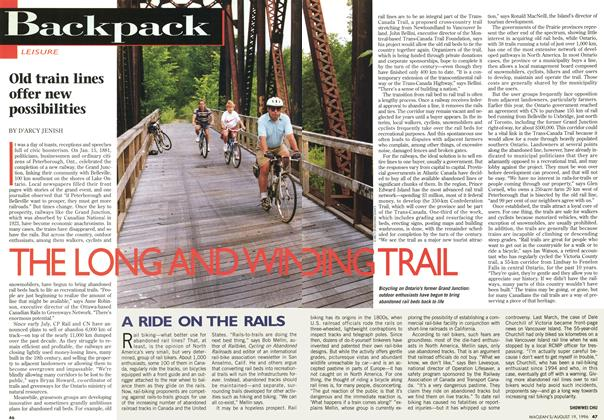 Article Preview: THE LONG AND WINDING TRAIL, August 1996 | Maclean's