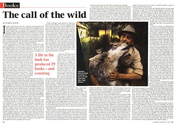 Article Preview: The call of the wild, August 1996 | Maclean's