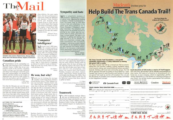 Article Preview: TheMail, August 1996 | Maclean's