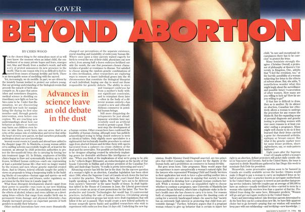 Article Preview: BEYONG ABORTION, August 1996 | Maclean's