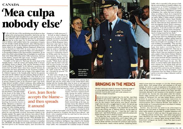 Article Preview: Mea culpa nobody else', August 1996 | Maclean's